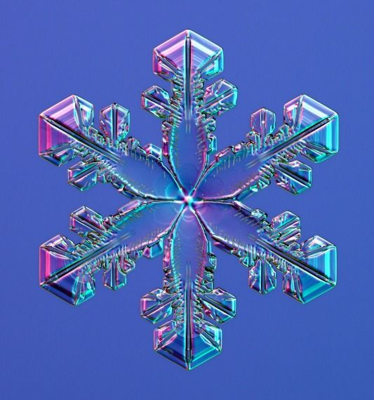 Snowflake under an electron microscope. #nature: