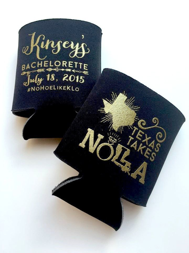 New to SipHipHooray on Etsy: Bachelorette Can Coolers Wedding Can Coolers NOLA Bachelorette Girls Trip New Orleans Bachelorette Louisiana Texas Takes NOLA (75.00 USD)