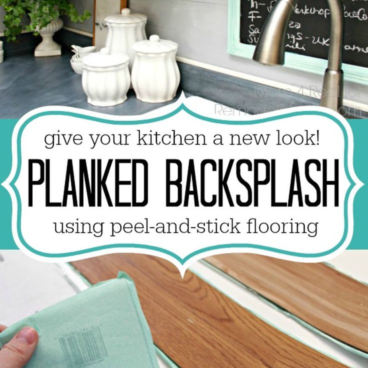 Cheap Peel And Stick Backsplash: Plank A Kitchen Backsplash Using Peel And Stick Flooring