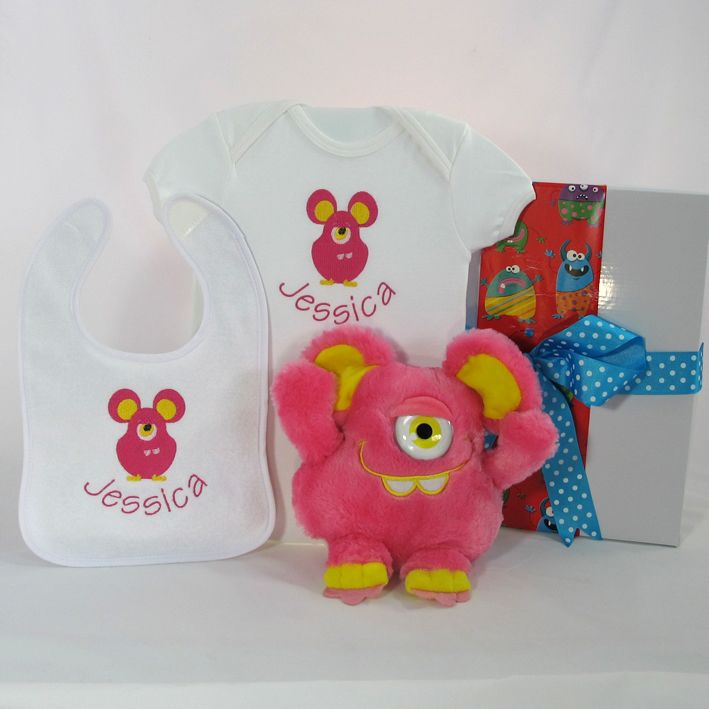 "Personalised baby gift hamper ""Lil Monster"""