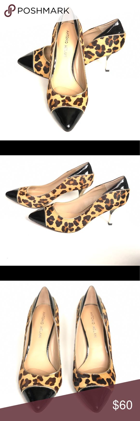 Antonio Melani Leopard Calf Hair Heels Size 8M Antonio Melani Leopard Calf Hair Heels Size 8M. Has some scuffs and wear (pictured) but overall are in good condition.  3 inch heel. ANTONIO MELANI Shoes Heels