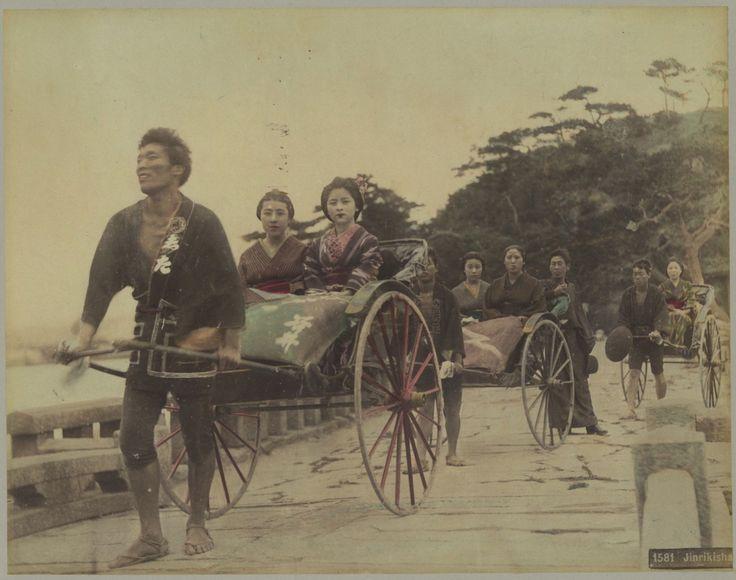 Japan, Jinrikisha #Asie_Asia #Japon_Japan