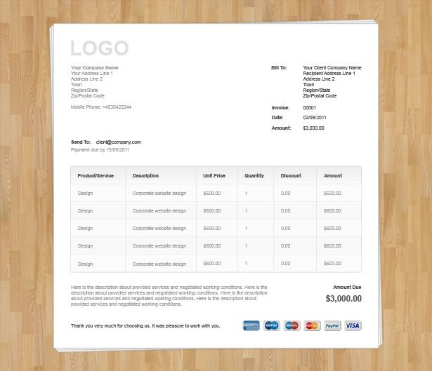 Web Design Quote Template The Best Freelance Invoice Template   Corporate Invoice  Template