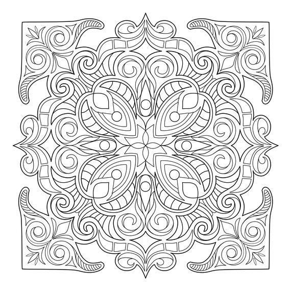 Mandala Madness Malbuch Nr 2 Druckbare Pdf Malvorlagen Mandalas 2 Druckbare Mandala Coloring Pages Abstract Coloring Pages Geometric Coloring Pages
