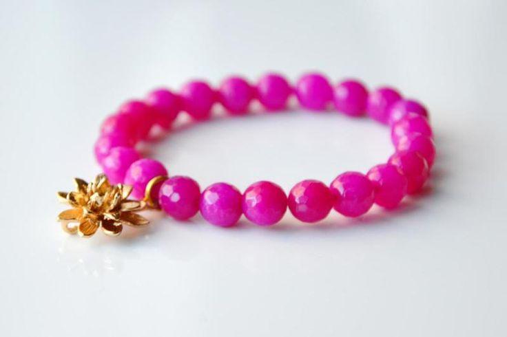 Piękna i elegancka bransoletka z jadeitu  w BraceletBySIS na DaWanda.com