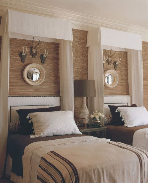 Mary McDonaldGuestroom, Guest Bedrooms, Mary Mcdonalds, Boys Bedrooms, Antlers, Boy Rooms, Twin Beds, Guest Rooms, Boys Room