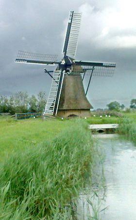 Polder mill Achlumer Mole, Achlum, The Netherlands