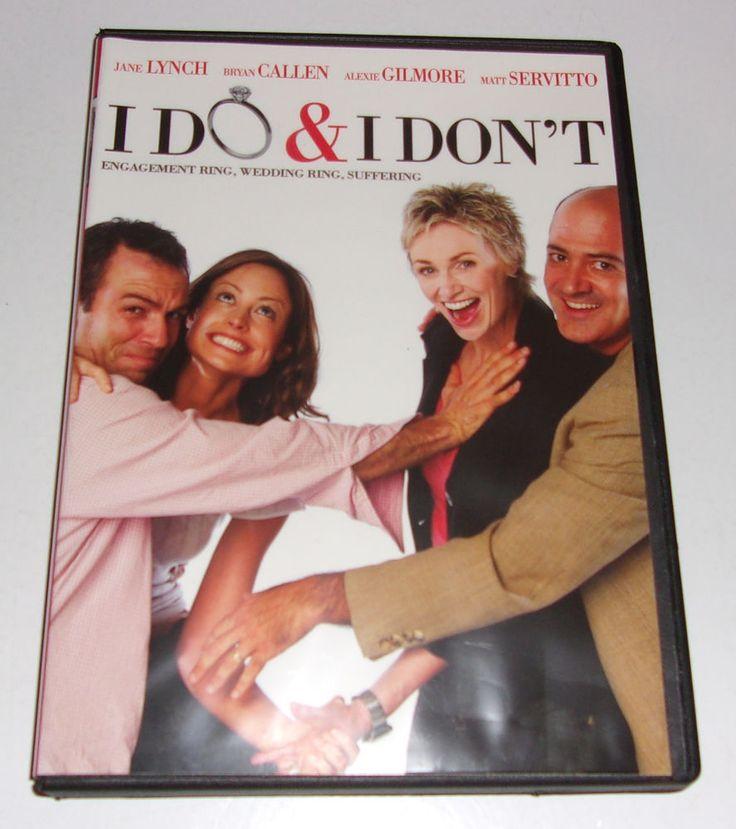 I Do & I Dont DVD 2010 2010 Full Frame Jane Lynch Bryan Callen Alexie Gilmore