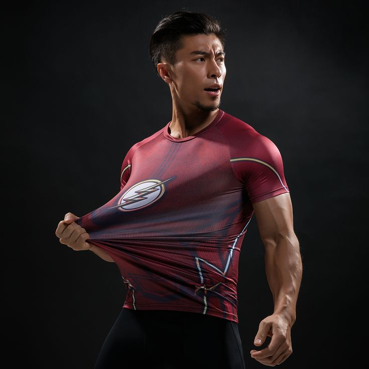 awesome Rashguard Short Sleeve Tee Shirt Crossfit Flash Armor Gear Comics  -  This t-shirt looks like natural superhero gear! Fits perfectlyrash guard tee shirtis ideal for sport and daily usage. This shirt containslycra, which allows material stretch to the several sizes and comes back to normal size. Perfectly breathtissue, the color doesn't fade over time.  Check more at https://idolstore.net/shop/apparels/sportswear/rashguard-short-sleeve-tee-shirt-crossfit-flash-armor-gear-comics/