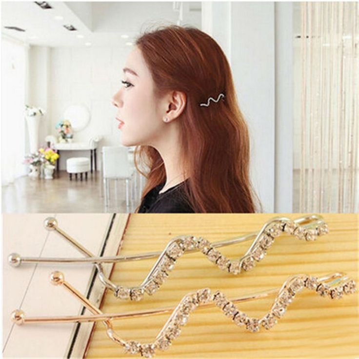 YouMap Spiral Screw Pin Hair Clip Twist Barrette Crystal Side Bangs Clip Word Shilly Folder BB Folder A5R32C