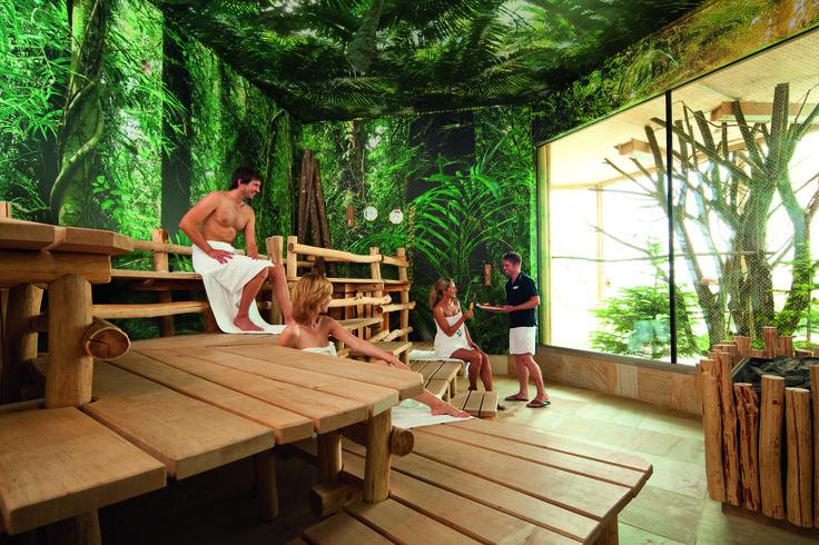 Tropen-Sauna mit 75 °C