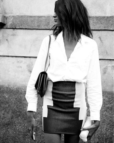 hair, black and white
