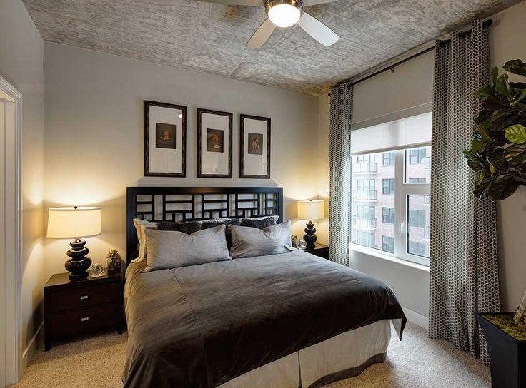 Model Bedroom At Amli Lofts Luxury South Loop Apartments In Chicago Amli Lofts Pinterest
