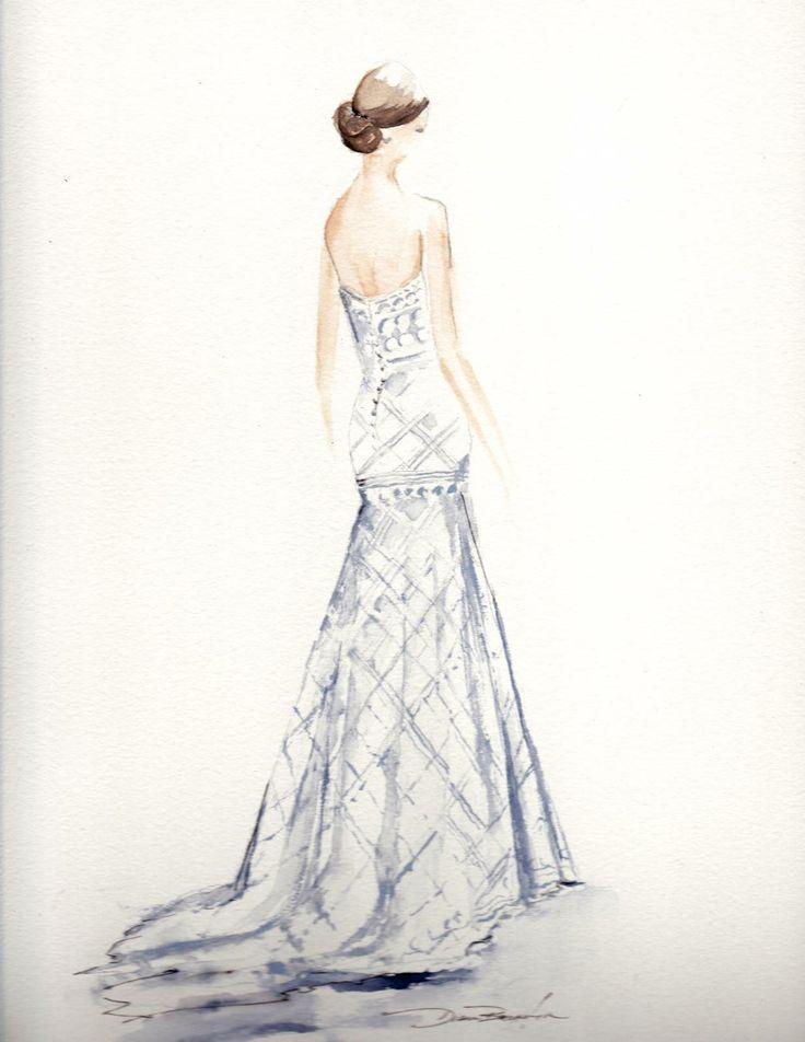 42 best Wedding Dress Art images on Pinterest | Modezeichnungen ...