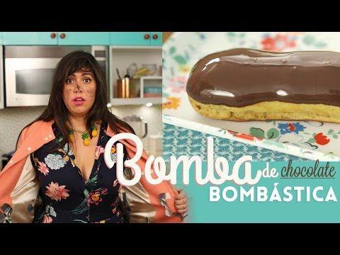 Aprenda passo a passo a fazer a verdadeira bomba de chocolate francesa, bem recheada com massa pate a choux sequinha e creme patisserie de chocolate aveludad...