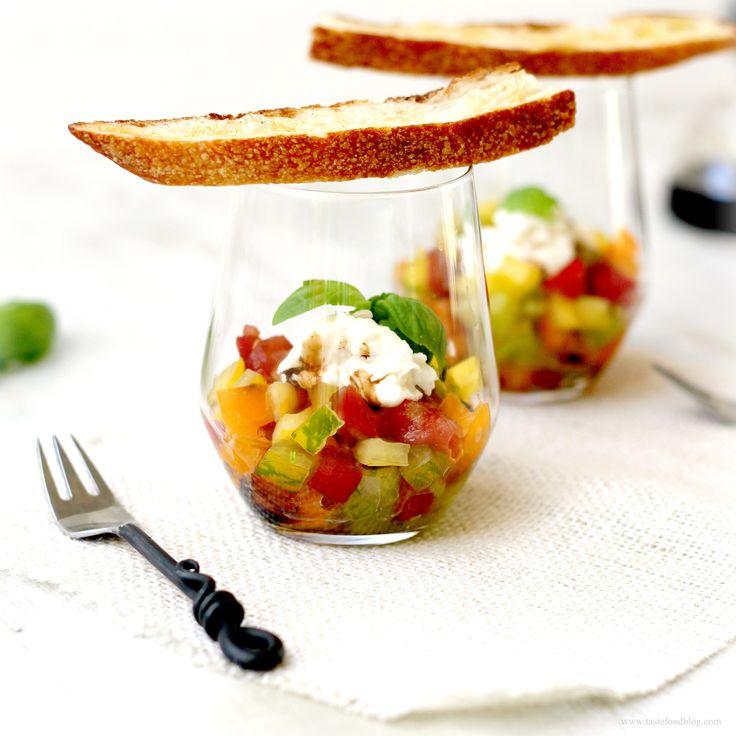 TARTAR DE TOMATE (tomato tartare verrines) #recetas
