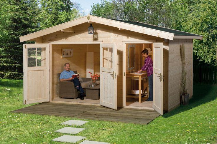 Gartenhaus WEKA Gartenhaus 261 Holz-Haus-Bausatz 2-Raum Gartenhaus - Inklusive Trennwand - So haben Sie 2 getrennte Räume