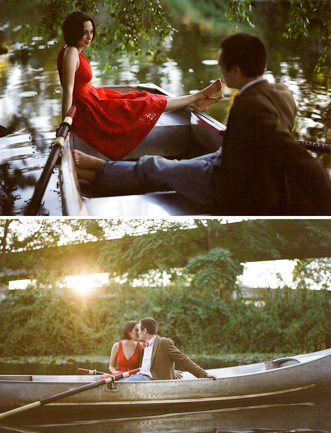 Likw Noah from the Notebook :) Would be a cute engagement photo ;)