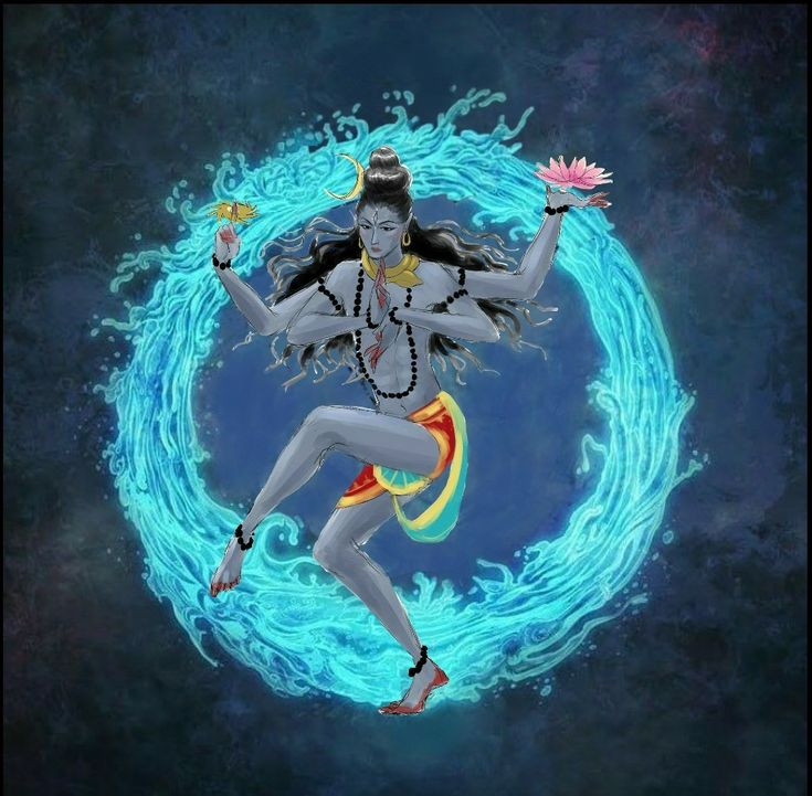 Lord Shiva as Nataraj in creative art painting