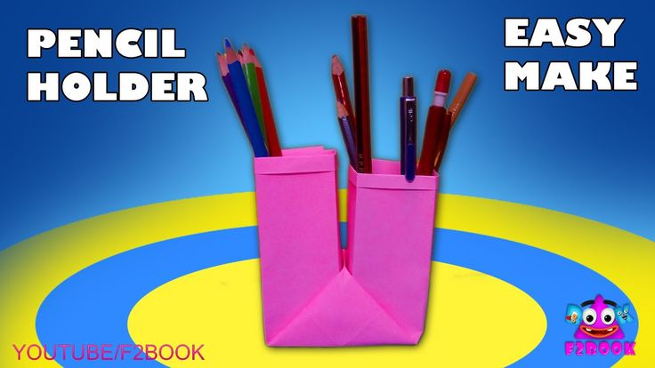 How to Make Pencil Holder With Single Paper Without Glue || Easy Paper F...
