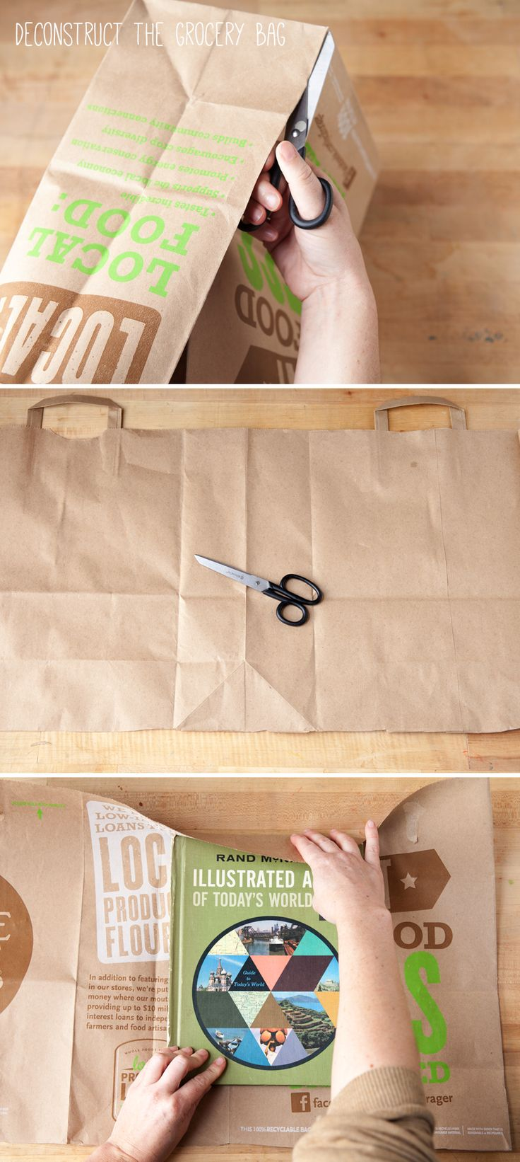 10 creative diy book cover ideas - Make A Book Cover Out Of A Grocery Bag Backtoschool Diy Upcycle