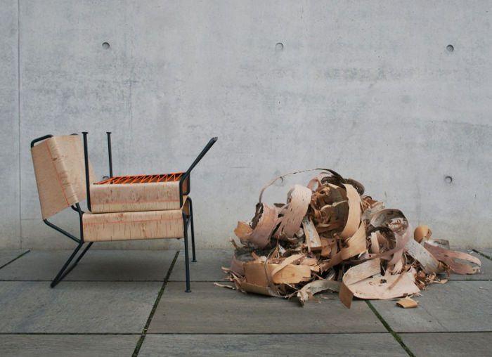 Sibirjak le fauteuil en écorce par Anastasiya Koshcheeva