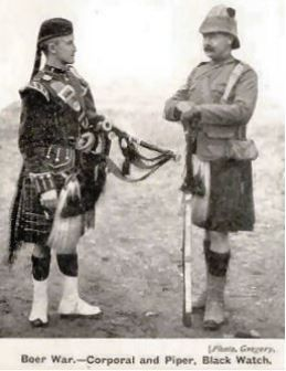 Boer War, Corporal and Piper, Black Watch