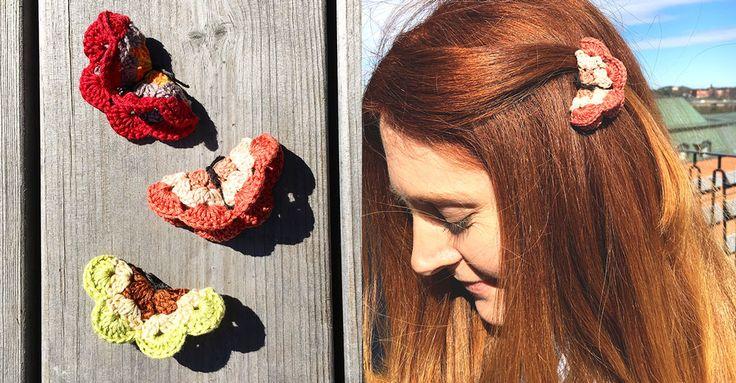 Virka en fjäril, virka tusen. Du kan virka små av moulinégarn eller större av grövre bomullsgarn. Välj en virknål som passar till och experimentera.