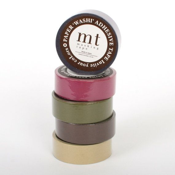 mt masking tape 10m / washi tape / solid colors / by Vespapel, $3.50