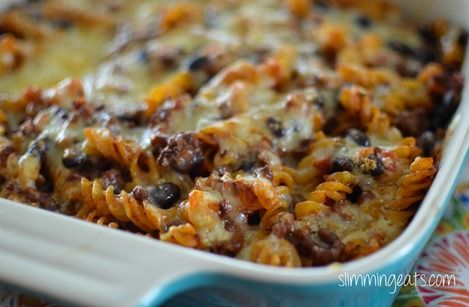 Slimming world friendly mexican pasta bake.