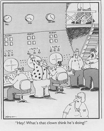 Image Result For Far Side Comic Hey What Does That Clown Think He Is Doing Far Side