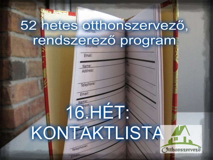 #16.HÉT - OTTHONI IRODA -Kontaktlista