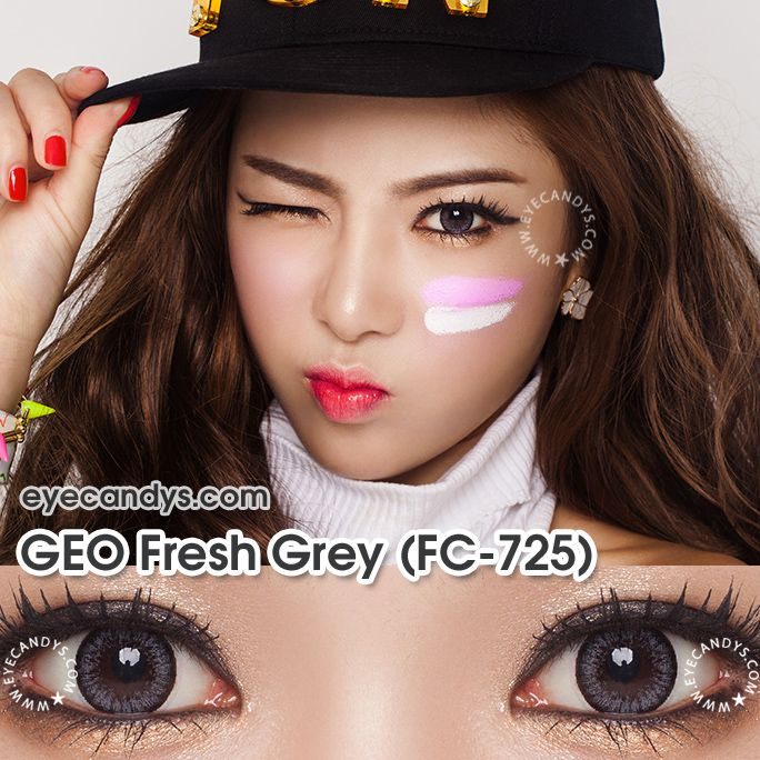 GEO Fresh Series are the most natural circle lenses available! They come in brown and gray. Buy genuine GEO products from EyeCandy's. Money Back Guarantee + FREE Shipping! http://www.eyecandys.com/fresh-series-14-0mm/