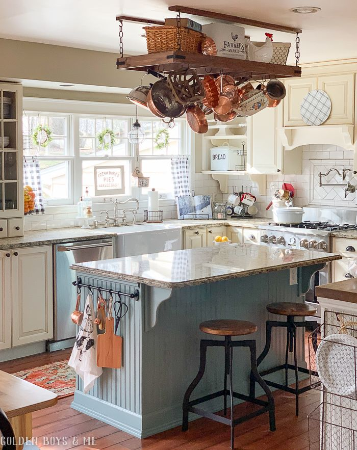Diy Pot Rack Tutorial Finally Kitchen Renovation Kitchen