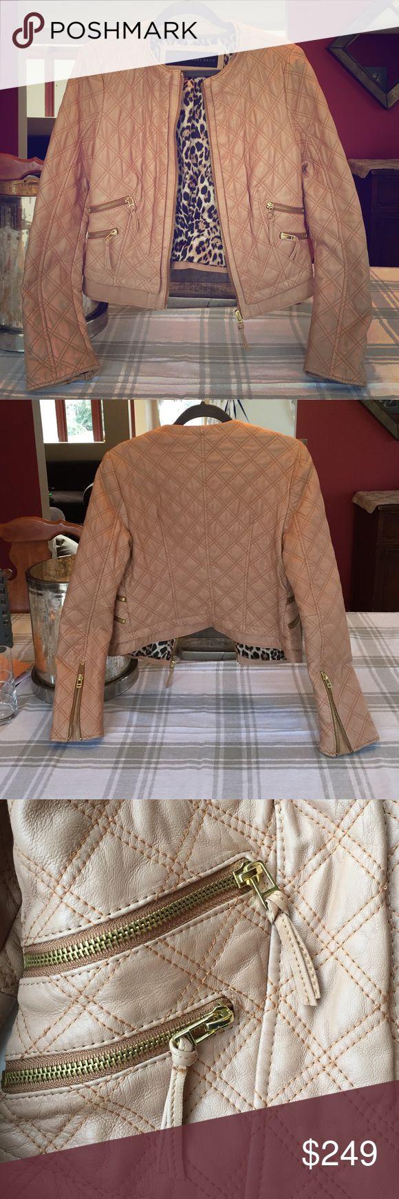 Zara lambskin leather jacket women's medium Extra soft lambskin Zara leather jacket never worn Zara Jackets & Coats