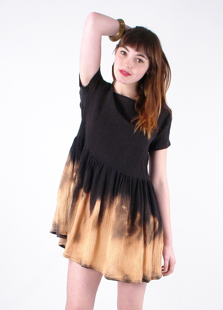 Lykke wullf linen dyed dress gorgeous little things for Bleach nice vibe shirt
