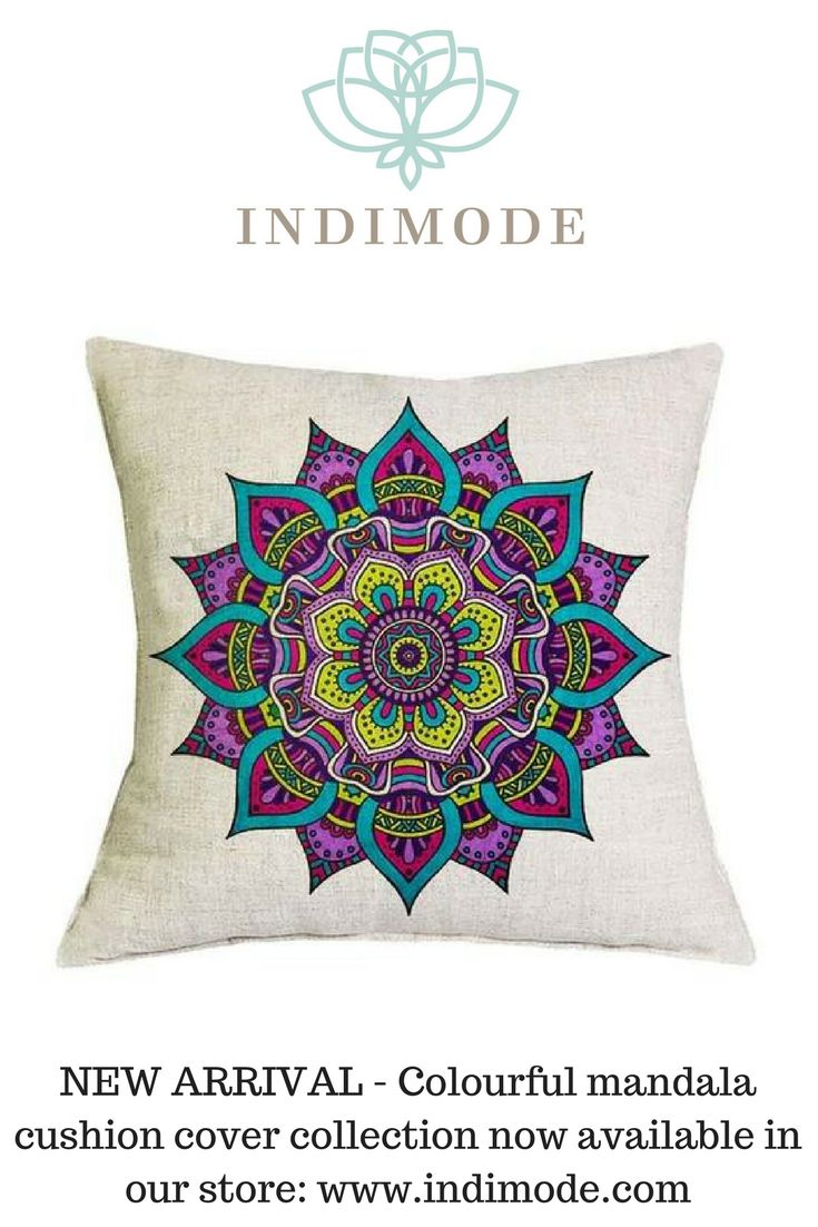 New arrivals - Indimode colourful mandala cushion cover collection. Check our store for more mandala cushion cover designs - https://indimode.com/collections/textile-cushion-covers-2  #mandalacushioncover #cushioncover #indimodehomedecor