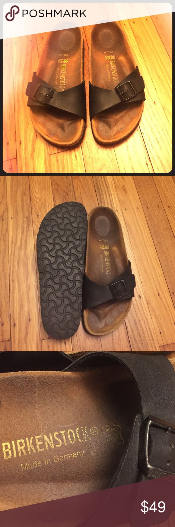 Made in Germany Madrid Birkenstock slippers Great condition, don't show much wear. Stylish and comfy Leather Birks with famous Birko-Floor and rubber sole. Open to reasonable offers!!!✅✅✅ Birkenstock Shoes Slippers