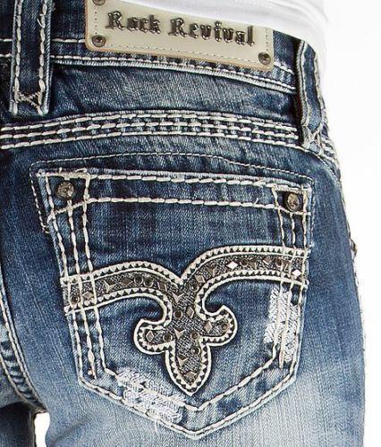 ROCK REVIVAL Jeans Sale NWT/DEFECT Low Rise Venus Bootcut Stretch Jean 27 X 31 #RockRevival #BootCut