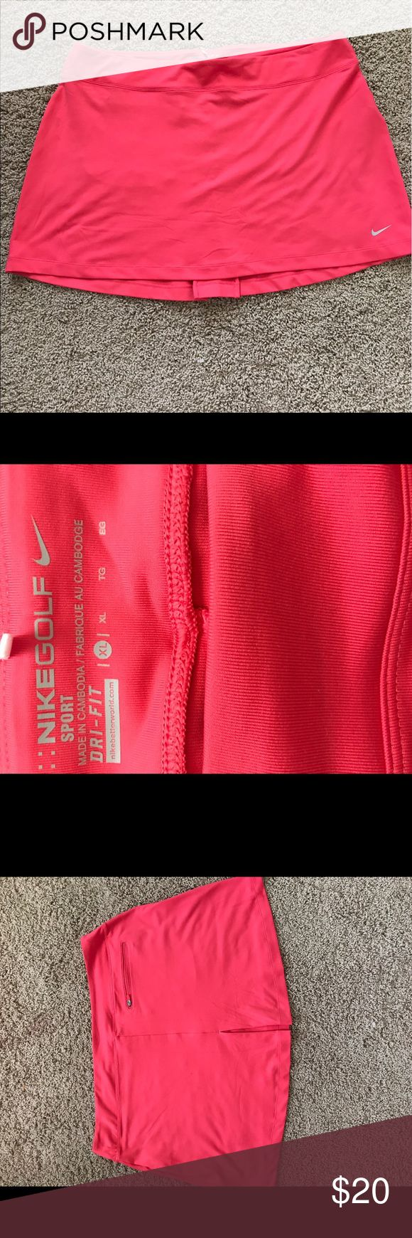 Nike skirt coral red XL In excellent used condition. Size XL Skirts Mini