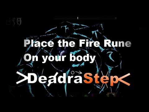 Gameplay Glitch Fire Rune Elder scrolls online    (DeadraStep)