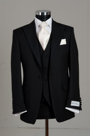 Slim line three piece black wedding suit. View all of our slim fitting suits and tuxedos here: http://www.savviformalwear.com/wedding/slimline.aspx?CoCode=SB=998