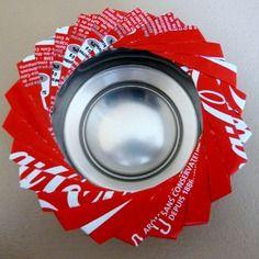 Cendrier avec canette alimentaire en aluminum