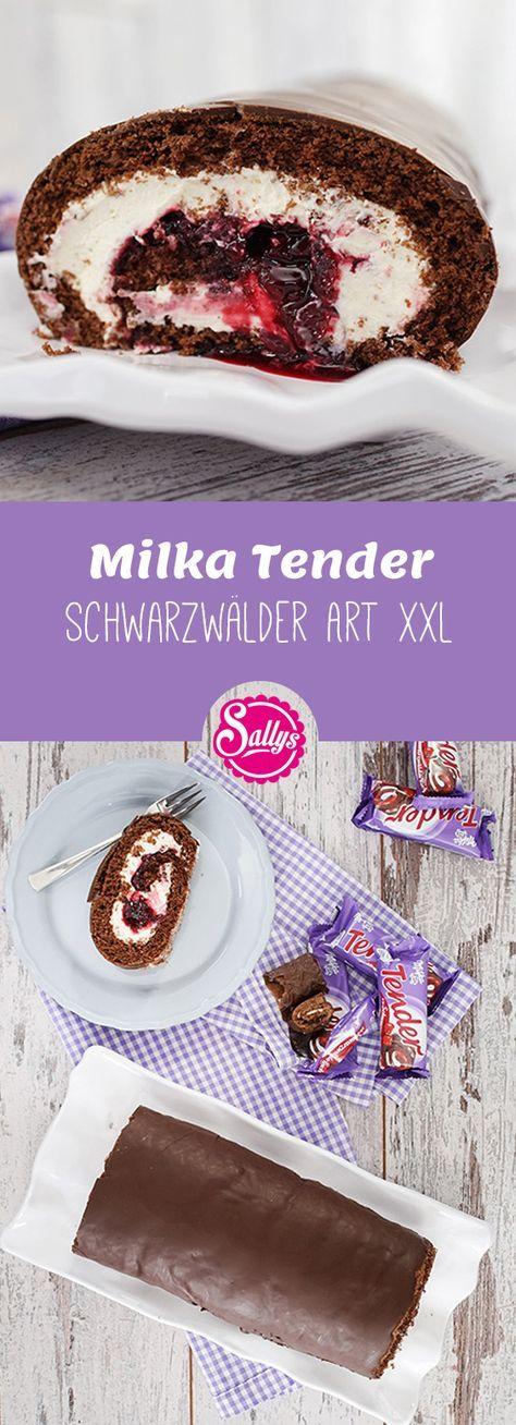 Milka Tender Schwarzwälder Art XXL nachgemacht! Original nachgemacht.