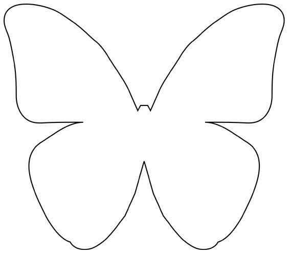 The 25 best ideas about butterfly template on pinterest for Butterfly paper cut out template