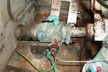 Tenuta idraulica a baderna prima del restauro