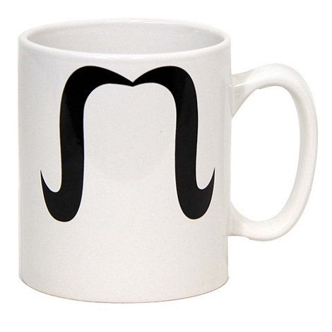 Moustaches are becoming increasingly popular again but you may be nervous of trying out this look on a permanent basis. This supersized Moustache Mug allows you to experiment with two moustache looks without any long term commitment on your part. There's a choice of two styles on the sides of the mug, either dapper or something slightly more sinister. Oversized mug featuring 2 different moustaches.