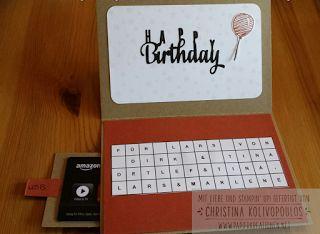 Papierkreationen.net: Geburtstag, Computer, Laptop Card, Gutschein, Birthday, Männer
