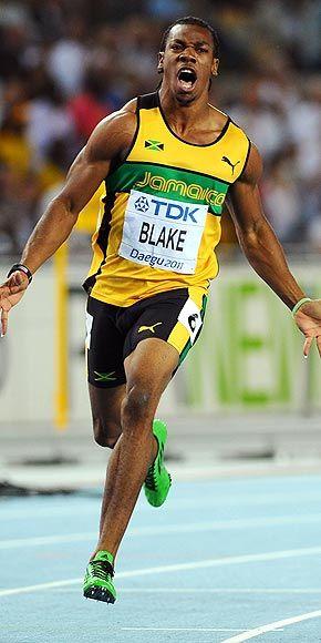 Yohan Blake. Go Jamaica. He's quite an attractive fella.