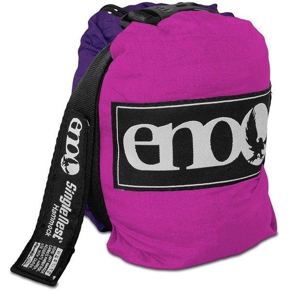 ENO Single Nest Hammock-Purple-Fuschia ❤ liked on Polyvore featuring home, outdoors, patio furniture and hammocks & swings